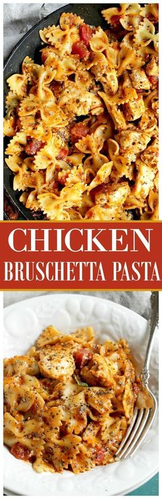 Chicken Bruschetta Pasta - Chicken, pasta and the flavors of bruschetta come together in a recipe that's about to become your family's favorite!