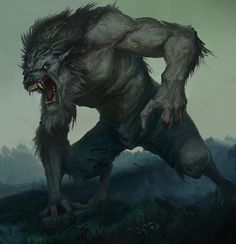 Awatar Ulryka Dark Creatures, Creatures Of The Night, Magical Creatures, Fantasy Creatures, Alpha Werewolf, Werewolf Art, Arte Horror, Horror Art, Dark Fantasy