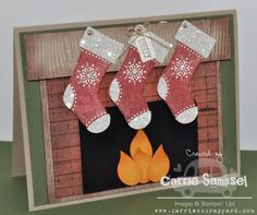 Stitched Stockings by csampsel - Cards and Paper Crafts at Splitcoaststampers