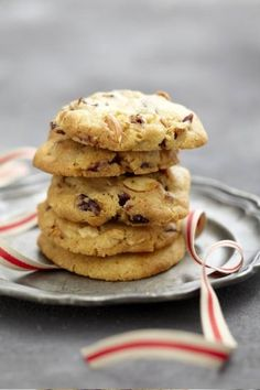 Cranberry, Almond and White Chocolate Cookies