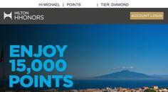 Earn 15000 Bonus Hilton HHonors Points on Upcoming Stay