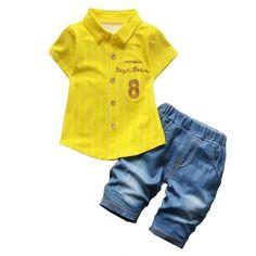 1792f26da56 Cute 8 And Thin Stripes Clothing Set. Baby Boy Clothing SetsBaby Clothes  OnlineNewborn OutfitsBaby Boy OutfitsKids OutfitsSummer OutfitsTee ...