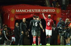 French star Pogba salutes the Old Trafford faithful after playing in the 2-0 win…