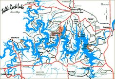 Table Rock marinas map TableRock Lake Lake Life is the Best