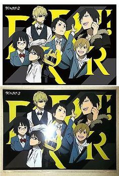 """Durarara DRRR! x 2 Clear Poster B: Shizuo, Izaya, Anri, Masaomi, Shinra, Celty and Mikado. The Poster Is Made of Highly Transparent PP and Sized A3, Measuring Roughly 11.6"""" x 16.5"""". Manufactured by Pe"""