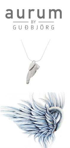 SWAN necklace   So cute and romantic necklace best fits for everyday look.  #Icelandicdesign #silver #AurumByGudbjorg