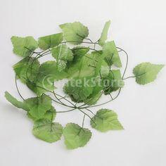 12x Artificial Vine Plant Silk Grape Leaf Vine for Home Garden Decoration