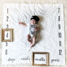 Baby shower gift ideas!! Baby milestone Blankets make the best gift ever from DOTBOXED.