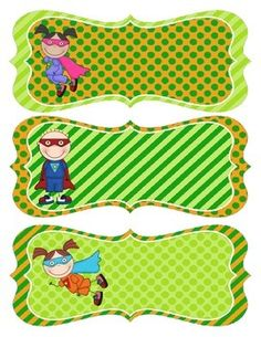 Use these adorable superhero themed name tags to label student desks, cubbies, journals, folders and much, much more! Classroom Displays, Classroom Themes, Classroom Activities, Starting School, Beginning Of The School Year, Cubby Labels, Green Superhero, Superhero Classroom, Student Desks