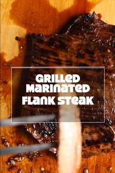 Flank steak marinated for 24 hours and grilled over a hot flame. Fire up the grill and give this flank steak a try in your fajitas or steak nachos! Bbq Flank Steak, Steak Marinade For Grilling, Steak Marinade Recipes, Marinated Flank Steak, Flank Steak Recipes, Grilled Steak Recipes, How To Grill Steak, Beef Steak, Grilling Recipes