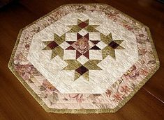 Octagon Quilted Table Topper Pattern Free Pattern For Download Pattern