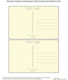 Draw Your Own Postcard | Postcard template, Free printable and Free
