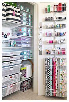 Craft Room Closet, Craft Closet Organization, Craft Room Storage, Bathroom Storage, Diy Storage, Arts And Crafts Storage, Creative Storage, Small Storage, Garage Storage