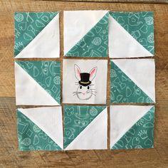 Cute mini quilt tutorial featuring Wonderland 2 fabric designed by Melissa Mortenson for Riley Blake Designs
