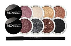 Mineral Eye Makeup Bundle Mica Beauty Boudoir Romance 8 Shimmer Eye Shadows Collection  Itay Gel Pencil Eyeliner Black ** You can find more details by visiting the image link.