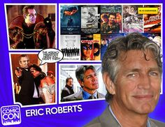 Welcome our next Salt Lake Comic Con 2014 guest, film & television actor, Eric Roberts! Best known for his roles as Sal Maroni in the Batman: The Dark Knight, James Munroe in The Expendables, The Master in the 1996 Doctor Who TV film, & Sharknado. His career began with King of the Gypsies in 1978, earning a Golden Globes nomination for best actor debut. His TV work includes 3 seasons on Less than Perfect & a recurring role on NBC's Heroes.