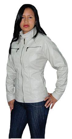 Vintage Woman Beige Leather Jacket Sz XS-3XL 12 Colors #ColombianCouture #Vintage