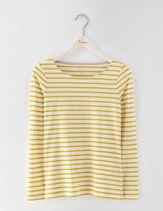 Long Sleeve Breton WO091 Clothing at Boden Business Outfits, Long Sleeve  Tops, Fall Outfits b03e9c2f446