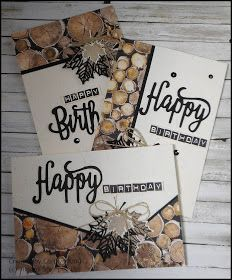 After creating the two cards in the previous post using the Wood Textures Designer Series Paper and the Oh So Eclectic Stamp Set and the Ec...