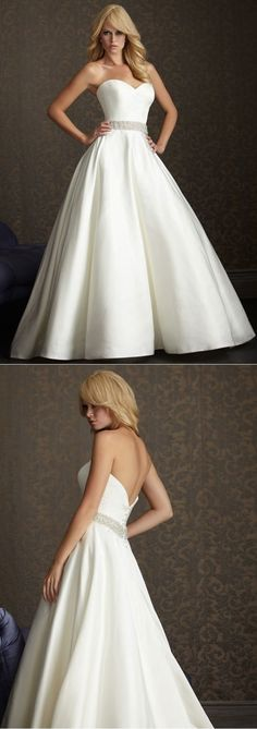 Custom-made Wedding Dress Graphic Designers Wedding Gown Informal Rhinestone…