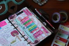 I like the way she makes an index page and using the Post-It flags - by TheLittleRavenInk, via Flickr