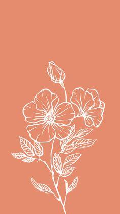 aesthetic bohemian flower iphone wallpaper