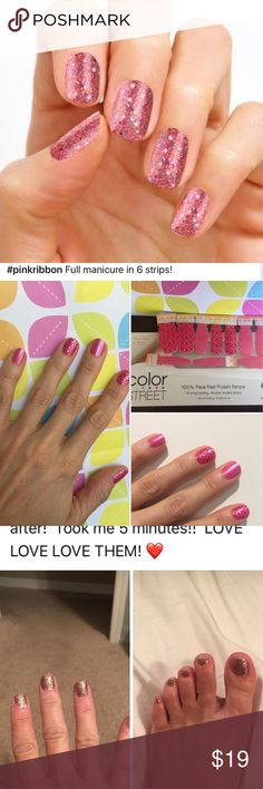 ZERO DRY TIME 100% VALENTINE'S Nail Polish Strips Brand new company – launched June 2017. 100% nail polish… Top coat, salon quality polish & base coat included in each strip. Each kit w/16 2 sided strips. No heat / tools needed…Color lasts 14 days+. One kit - approx 1 mani & pedi -even more w/smaller nails. Takes just minutes to apply – ZERO DRY time! To see more info, client testimonials & photos... click on my link at the top of my closet. Many more styles to choose from. BUY 3 GET 1 FREE…