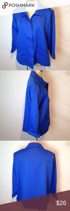 Draper's & Damon's jacket Gorgeous cobalt blue jacket. New without tags.  Great lightweight feeling. Draper's & Damon's Jackets & Coats