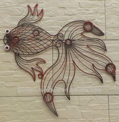 Wrought Iron Metal Art | Wrought Iron Wire Animal Metal Fish Wall Art Decor - Buy Metal Fish ...