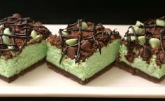 Mint Cheesecake Bars Recipe