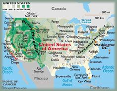 Usa Relief Map Lots Of State Maps