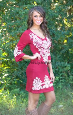The Pink Lily Boutique - Lasting Impression Dress Red , $38.00 (http://thepinklilyboutique.com/lasting-impression-dress-red/)