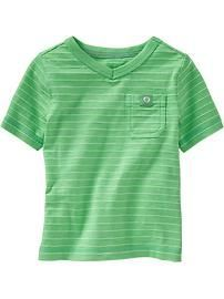 Micro-Striped Pocket Tees for Baby