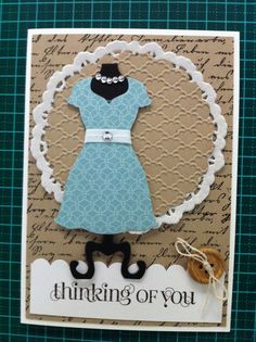 Made by Angela Middleton All Dressed Up card