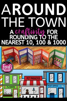 ARound the Town - A Craftivity for Rounding to the Nearest and - {hashtag} - Teaching Strategies, Teaching Math, Teaching Ideas, Math Resources, Math Activities, Effective Teaching, Educational Crafts, New Teachers, Elementary Math