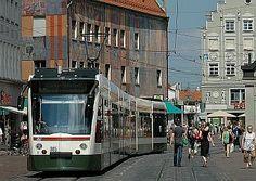Augsburg, Germany   Uwe Wittenfeld 2006-006-23   Click to enlarge! Dresden, Augsburg Germany, Light Rail, Street View, Modern, Passau, Heidelberg, Leipzig, Stuttgart