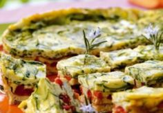 idea - bake quiches ahead of time, cut into squares - serve at room temp