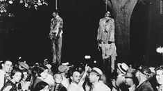 """A crowd gathers in Marion, Indiana, in 1930 to witness a lynching. This photograph inspired the poem and song """"Strange Fruit."""""""