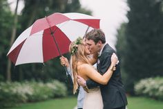 The rain can't stop this couple from having the best day of their lives! {Black and Hue Photography}