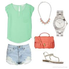 mint and coral by silviagl