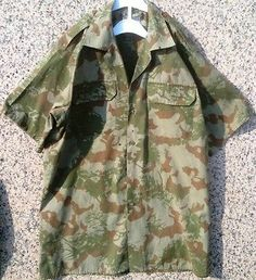 South African Police 2nd Pattern Camouflage Shirt/ Similar to KOEVOET Uniform.