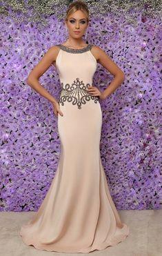 vestido rose longo