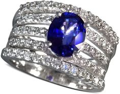 Effy Collection 14k White Gold Ring, Sapphire (1-9/10 Ct.)