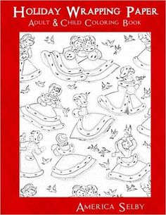 Amazon Holiday Wrapping Paper Adult Children Coloring Book