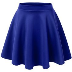 Womens Basic Versatile Stretchy Flared Skater Skirt ($13) ❤ liked on Polyvore featuring skirts, bottoms, saias, blue skater skirt, flare skirt, stretchy skirts, flared hem skirt and circle skirt
