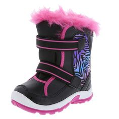 Get her ready to hit the slopes with this Snowboard Boot! It features a tumbled upper with dual straps, padded collar and tongue, faux fur trim, soft lining, and a rubber outsole. Thermolite insulation keeps feet warm in temperatures as low as -22�F (-30�C). Manmade materials.