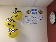 Minion Math word wall.. still need to add minion centers