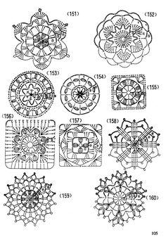 Схема вязания 151-160