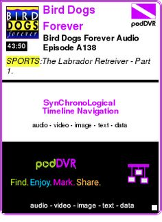 #SPORTS #PODCAST  Bird Dogs Forever    Bird Dogs Forever Audio Episode A138    LISTEN...  http://podDVR.COM/?c=8805ed7f-8201-a368-8da7-befd42506805