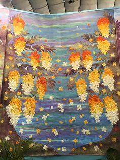 Lichens on Limestone II, a quilt by Liz Brooke Ward | Fabric ... : quilt festivals 2015 - Adamdwight.com